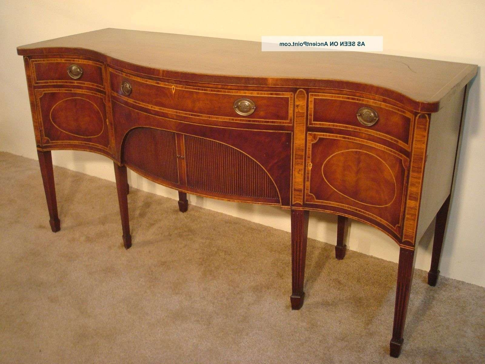 Antique Baker Furniture Company Inlaid Mahogany 8 – Leg Intended For Hepplewhite Sideboards (View 2 of 20)