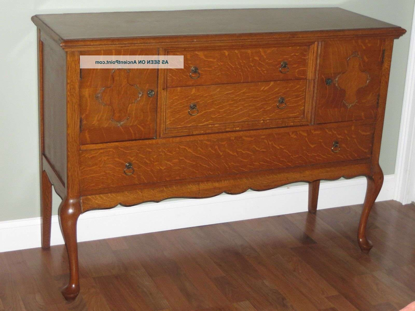 Antique Buffet Value Antique Tiger Oak Sideboard Buffet Server In Antique Oak Sideboards (View 20 of 20)