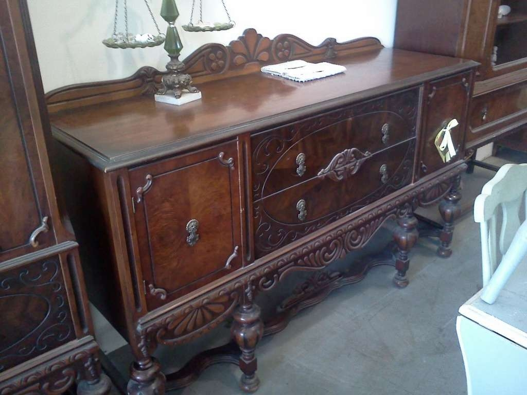 Antique Distressed Buffet Sideboard — New Decoration : Distressed Regarding Distressed Sideboards And Buffets (View 1 of 20)