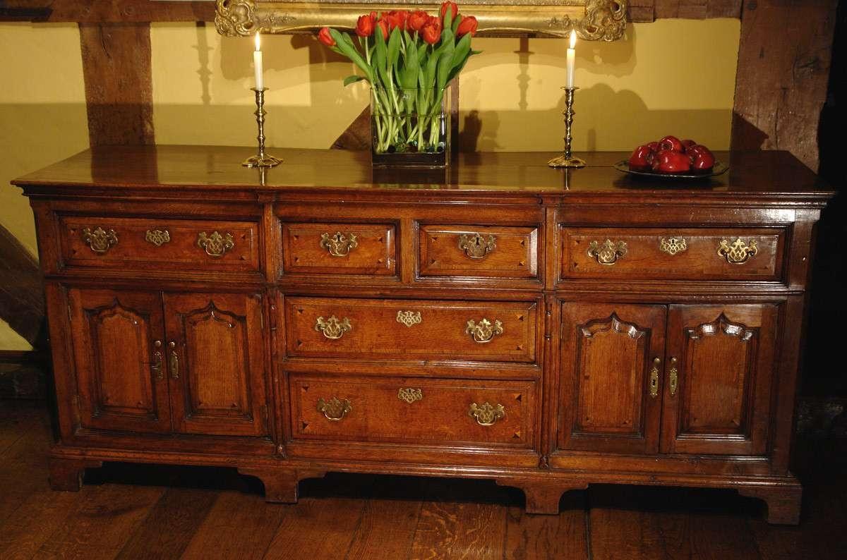 Antique Dresser Base / Sideboard, Georgian Oak – Adams Antiques Inside Antique Oak Sideboards (View 3 of 20)