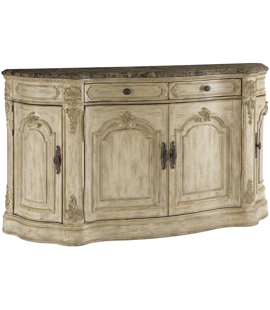 Antique French Country Dinette Decor With Adjustable Shelf Buffet Inside Sideboards With Marble Tops (View 2 of 20)