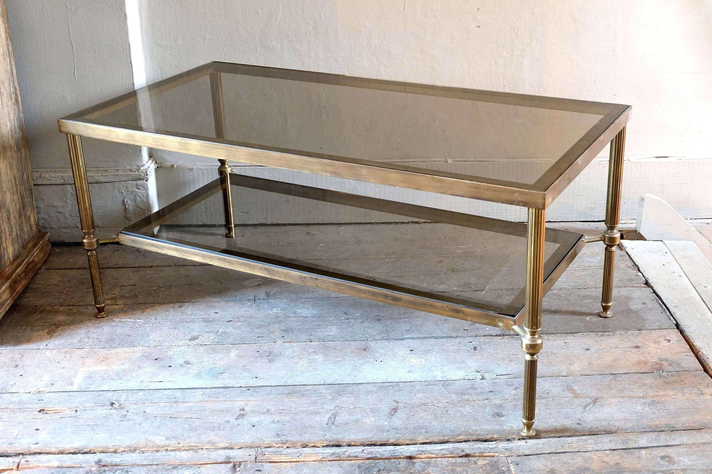 Antique Glass Coffee Tables Brass And Table Decoration Ideas Throughout Most Recently Released Antique Brass Glass Coffee Tables (View 5 of 20)
