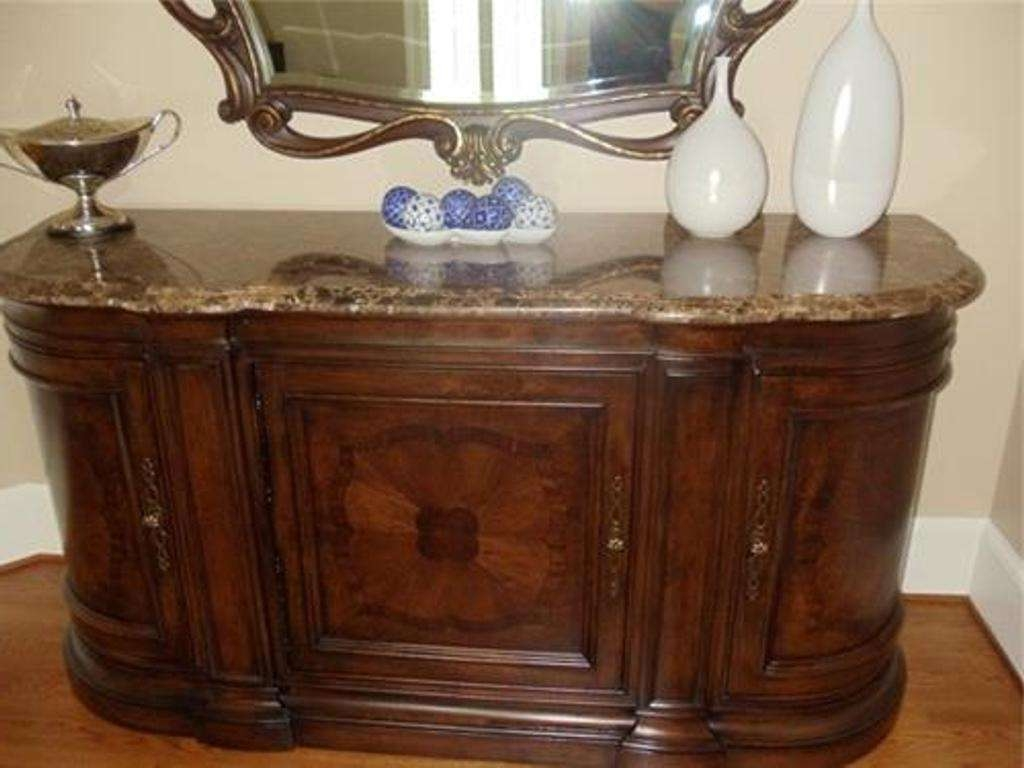 Antique Marble Top Sideboard And Hutch — New Decoration : Antique Within Marble Top Sideboards (View 3 of 20)