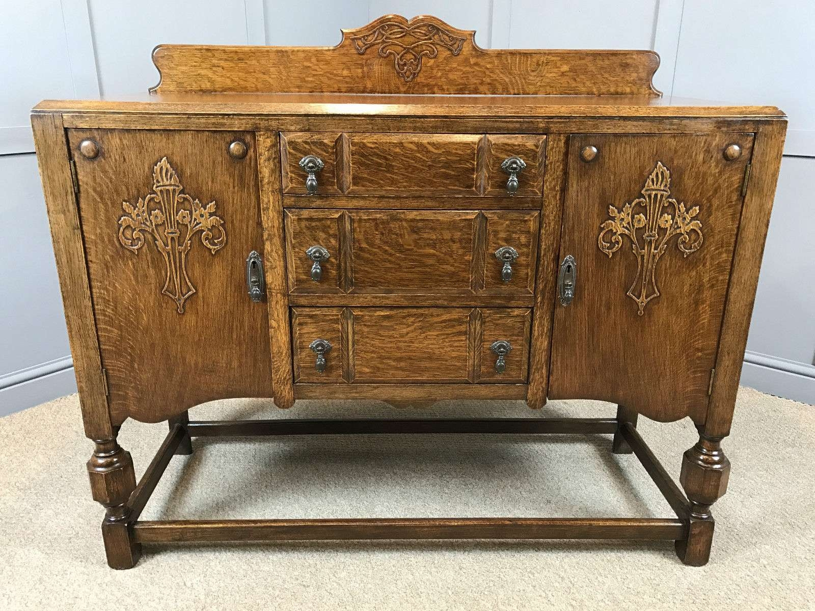 Antique Oak Sideboard For Living Room — Rocket Uncle Rocket Uncle For Antique Oak Sideboards (View 8 of 20)