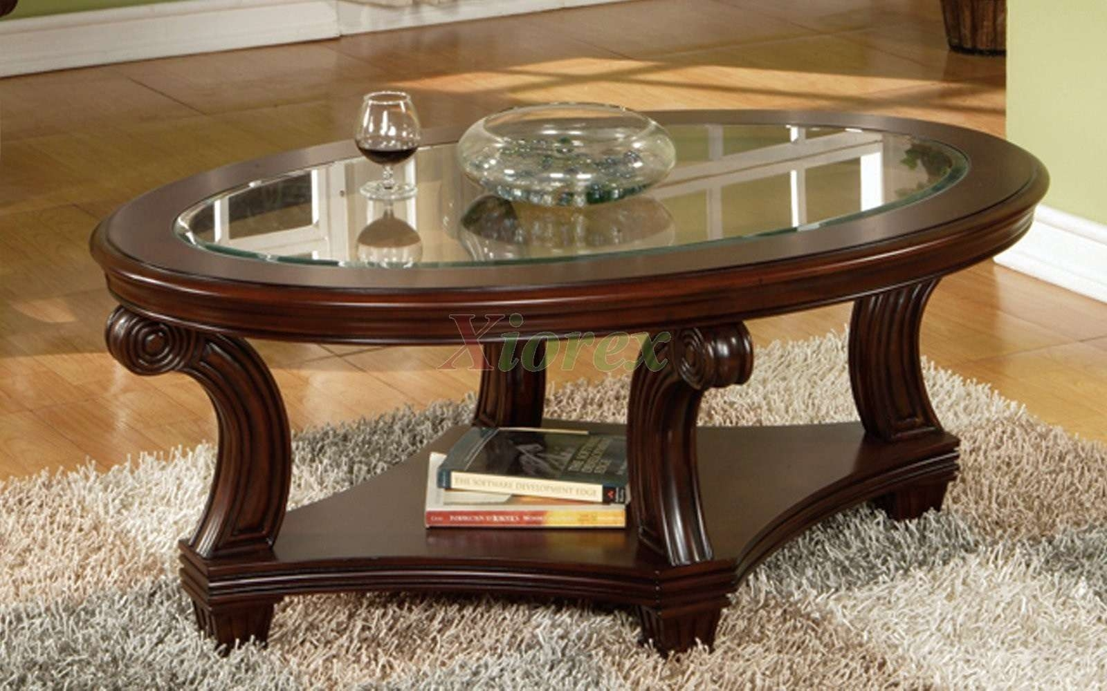 Antique Oval Coffee Table With Glass Top Elegant – Oval Coffee In Famous Oval Glass And Wood Coffee Tables (View 1 of 20)