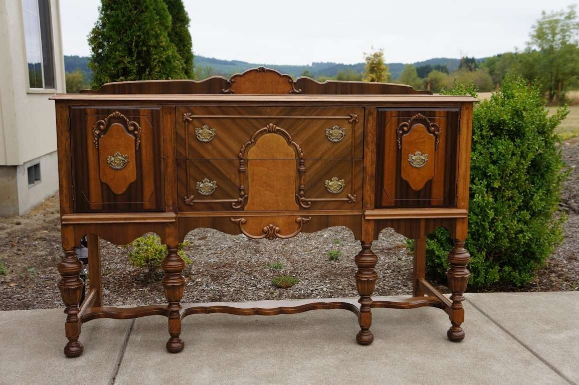Antique Sideboard Buffet In Our Home — Rocket Uncle Rocket Uncle Regarding Vintage Sideboards And Buffets (View 18 of 20)