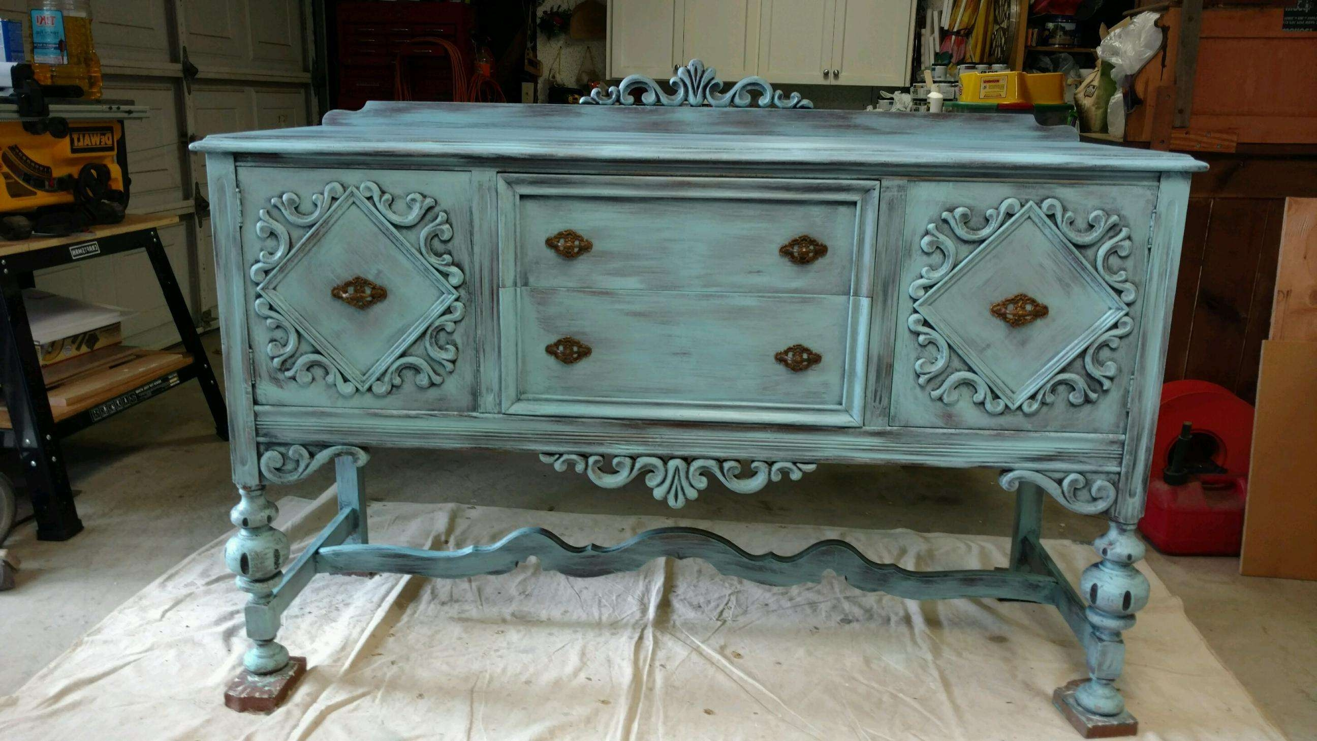 Antique Sideboard Buffet Intended For Antique Buffet Sideboards (View 7 of 20)