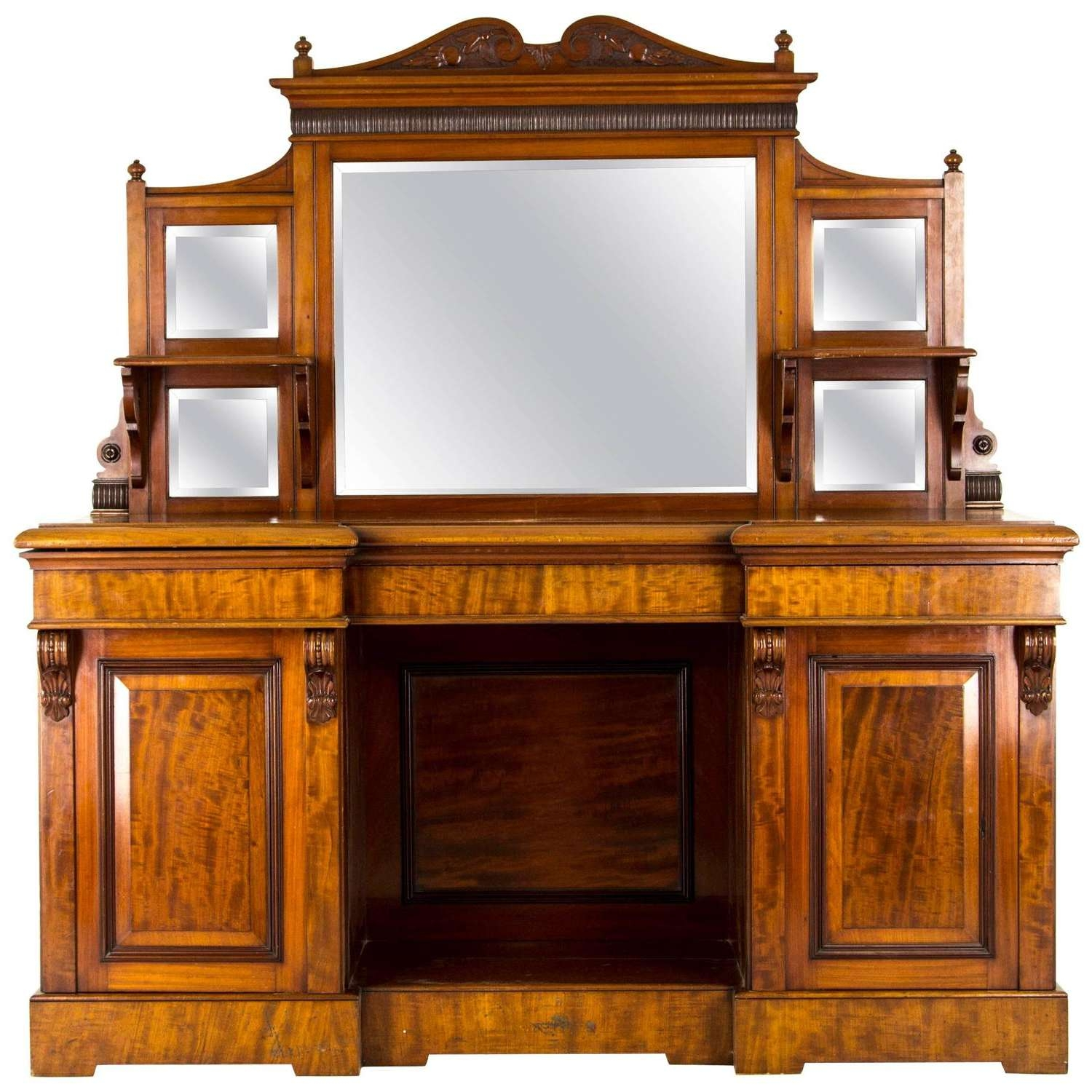 Antique Sideboard, Edwardian Mirror Back, Circa 1910 For Sale At Throughout Antique Sideboards With Mirror (View 3 of 20)