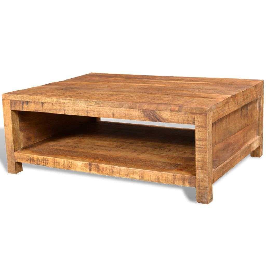 Antique Style Mango Wood Coffee Table (Gallery 4 of 20)