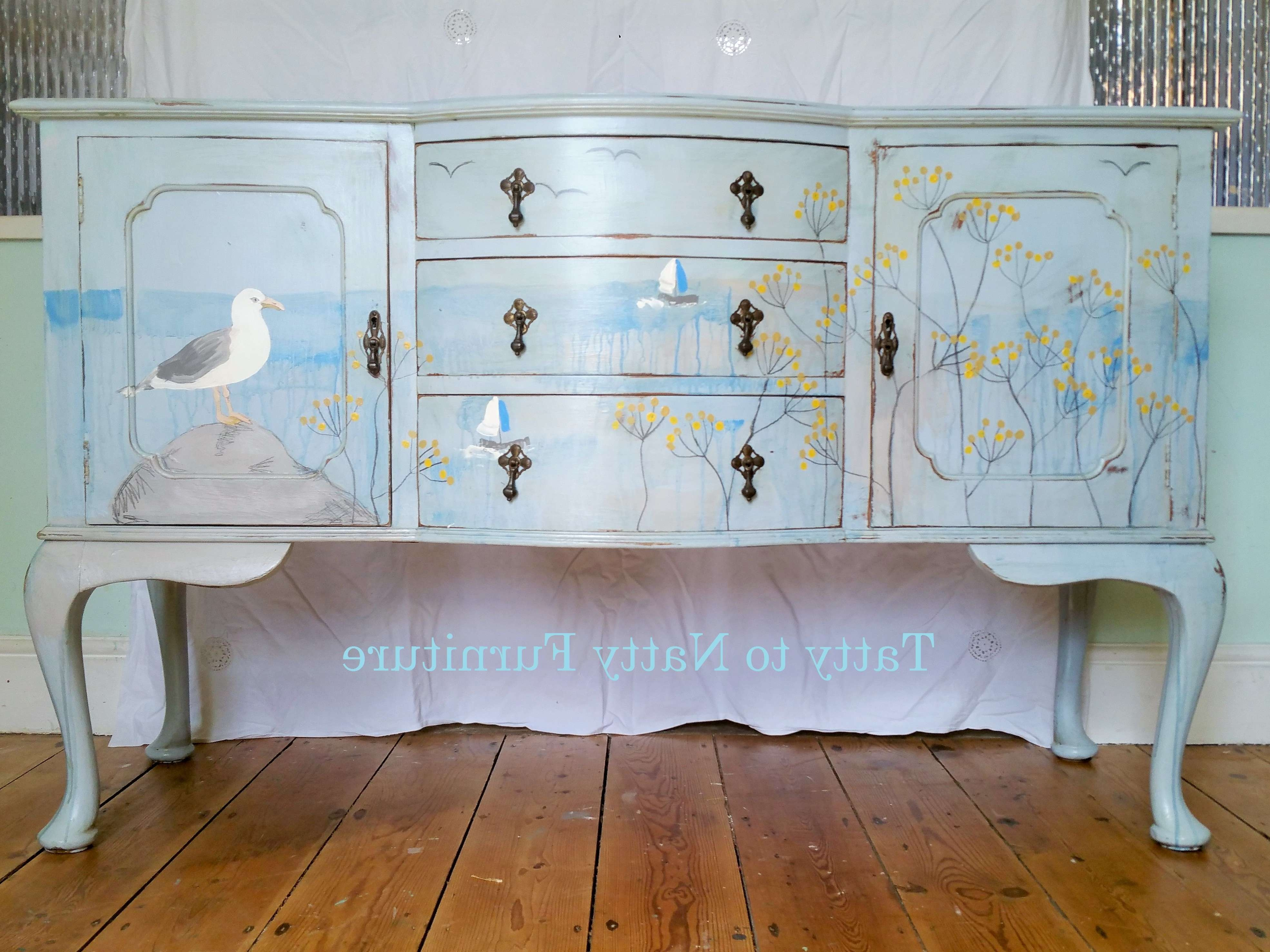 Antique Teal Accent Cabinet Distressed Sideboard Farmhouse Buffet In Distressed Buffet Sideboards (View 20 of 20)
