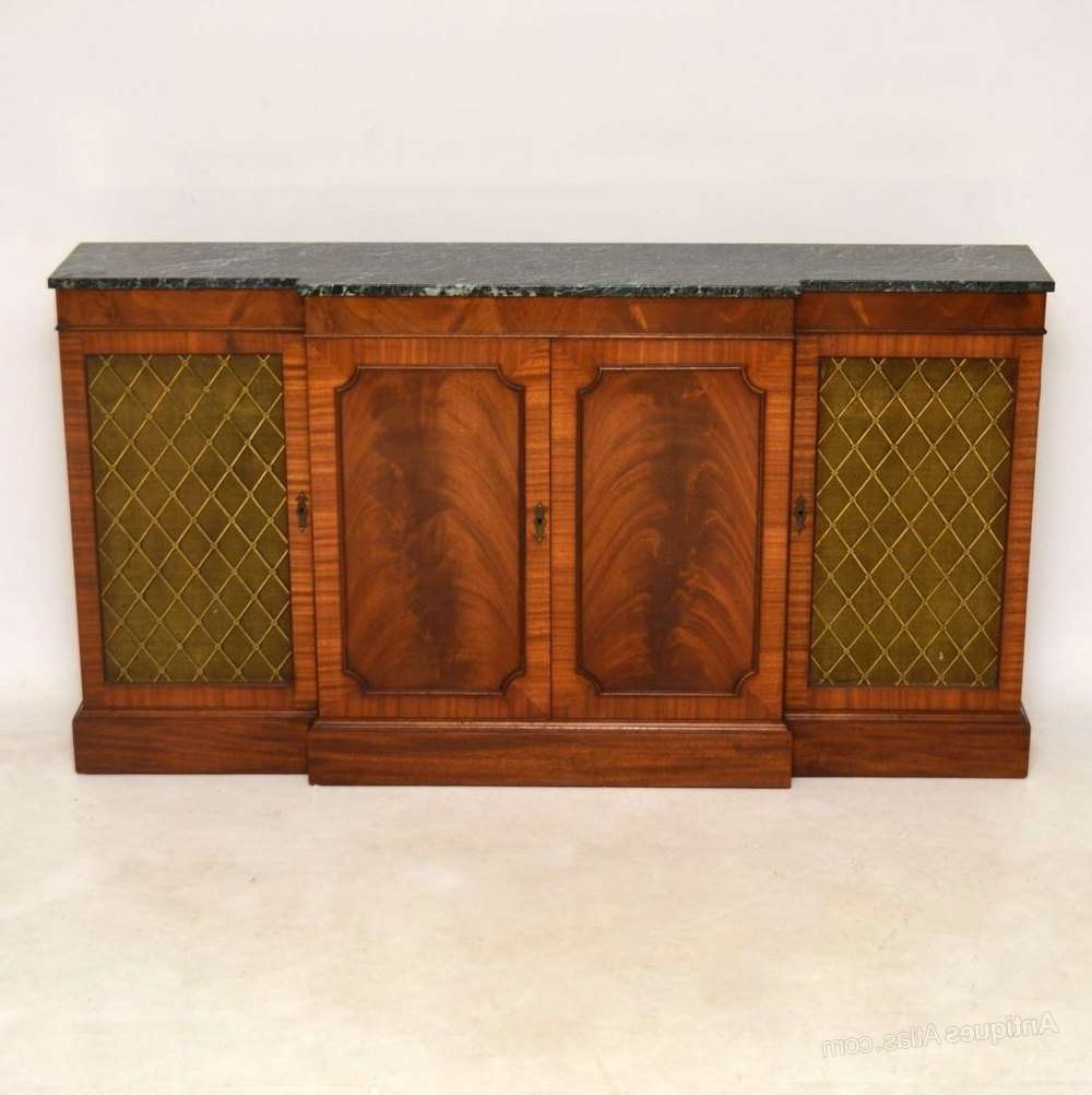 Antiques Atlas – Antique Regency Style Marble Top Sideboard Intended For Marble Top Sideboards (View 4 of 20)