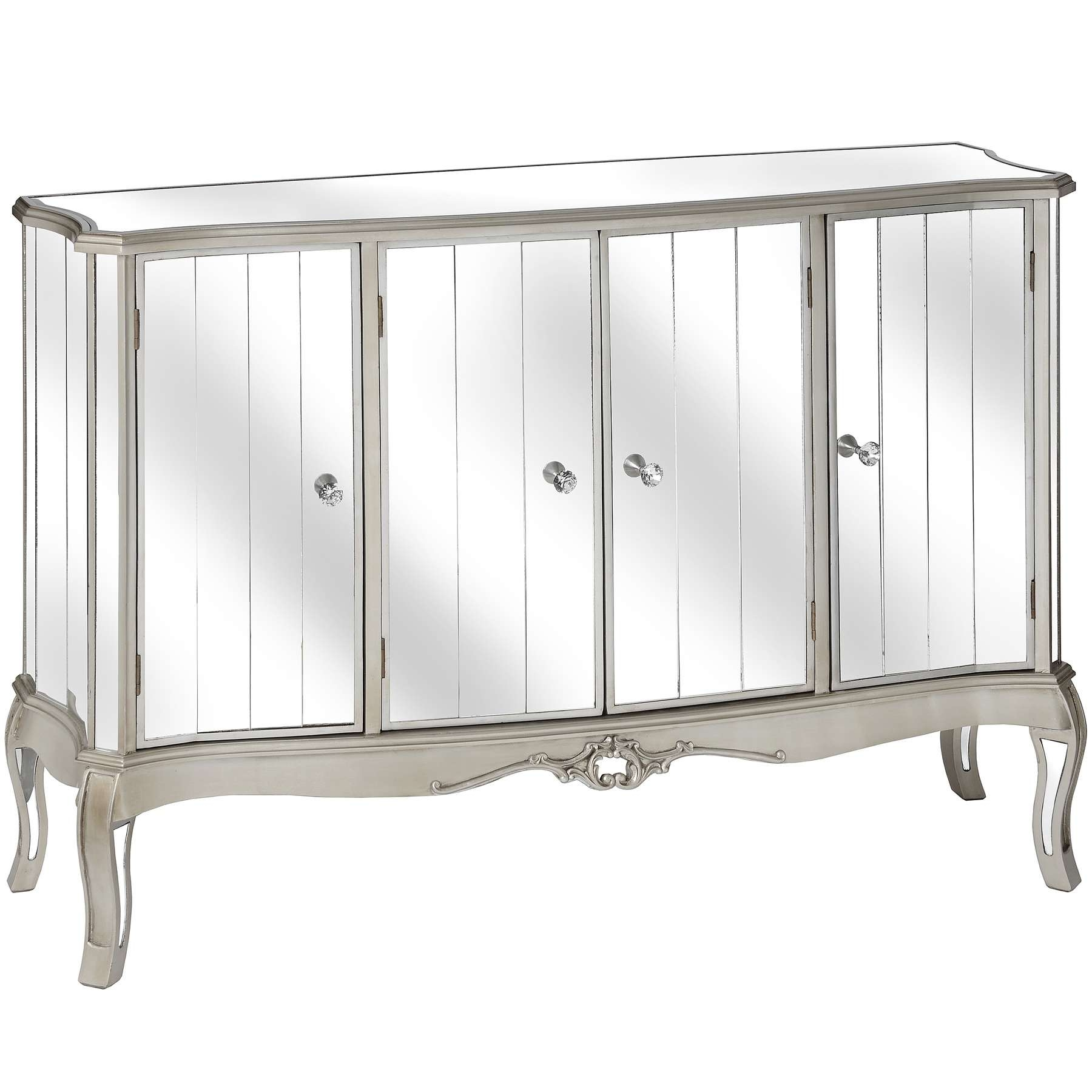 Argente Mirrored Furniture – Classic French Design | Baytree Interiors With White Mirrored Sideboards (View 19 of 20)