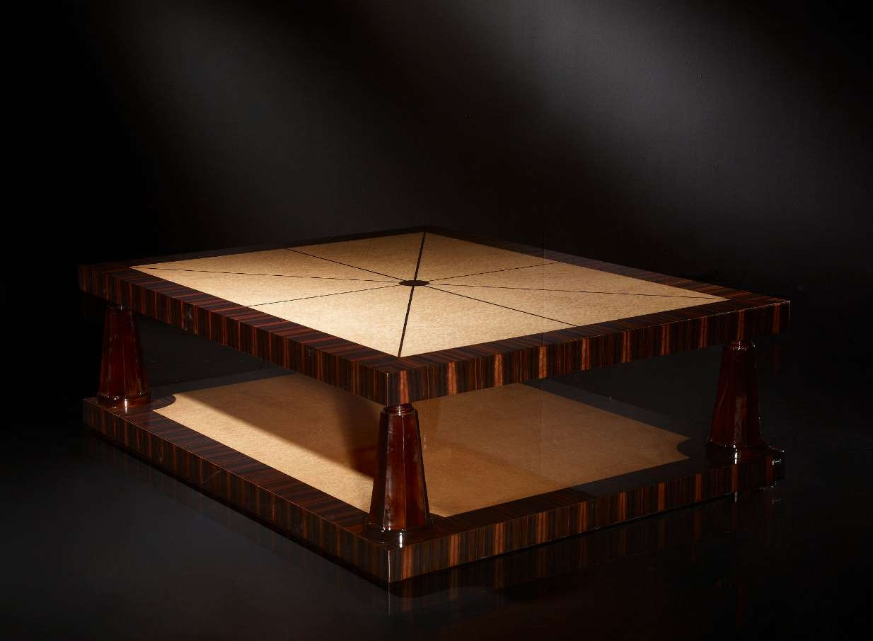 Art Deco Coffee Table / Wooden / Square – Soher In Latest Art Coffee Tables (View 2 of 20)