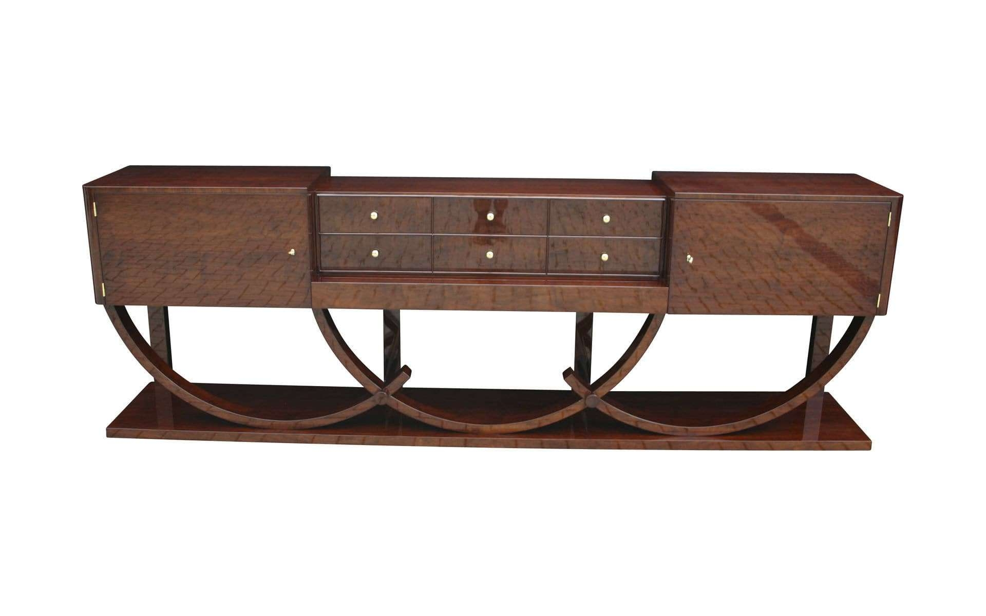 Art Deco Sideboard / Macassar Ebony / Glossy Lacquered Wood Throughout Art Deco Sideboards (View 6 of 20)
