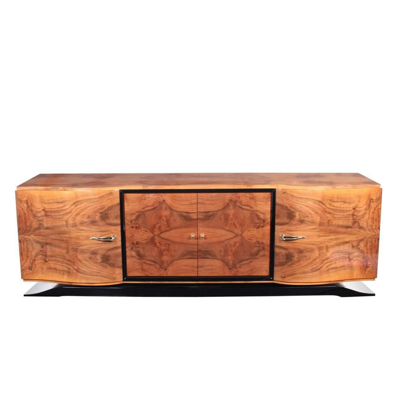 Art Deco Sideboard / Rosewood / Glossy Lacquered Wood – Sb001 Intended For Art Deco Sideboards (View 15 of 20)