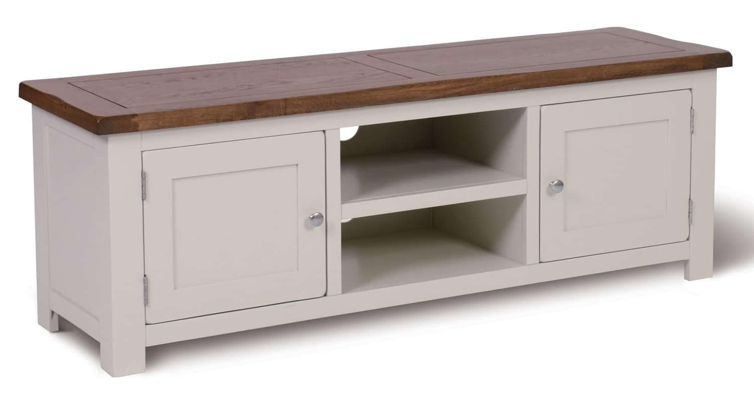 Ascot Large Tv Unit – Ascot Painted Range – Shoprange | Hallowood For White Painted Tv Cabinets (View 3 of 20)