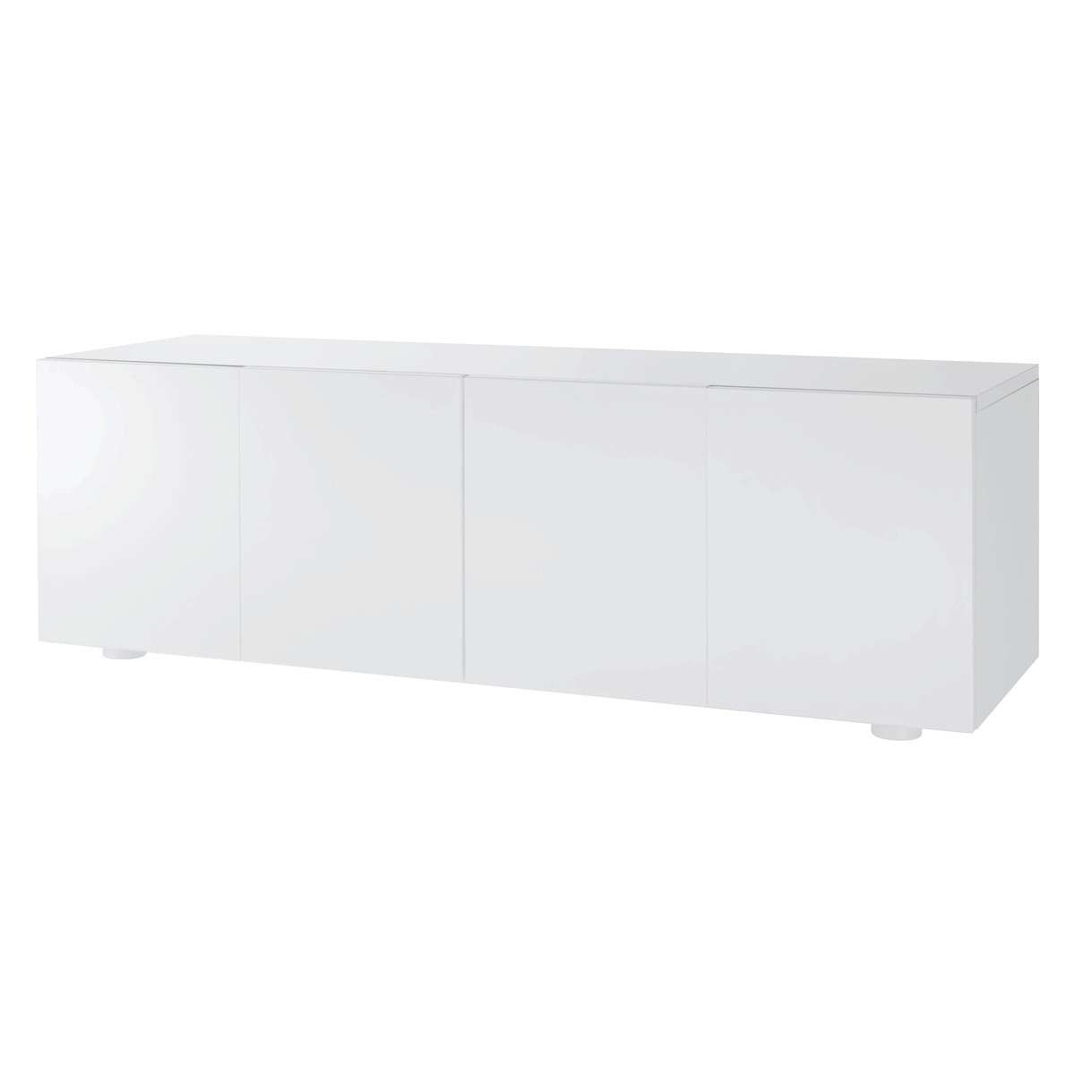 Aspen White High Gloss Long Cabinet | Buy Now At Habitat Uk Within Large White Sideboards (View 3 of 20)