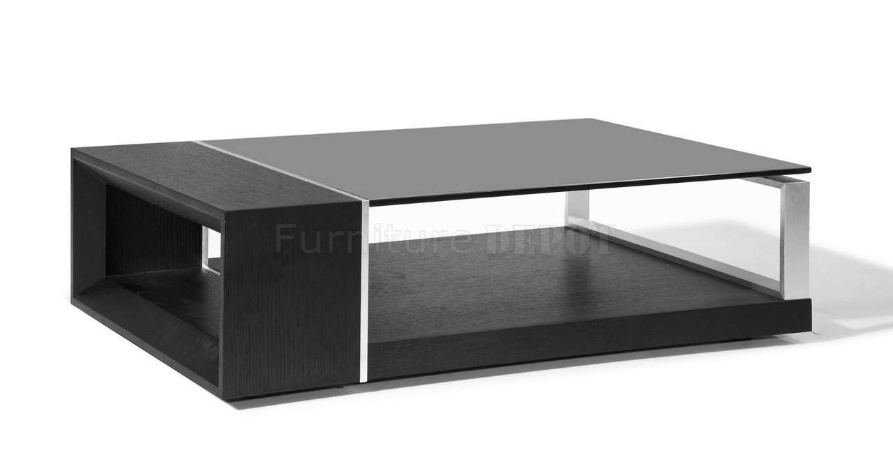 Astonishing Black Glass Top Coffee Table Set U2013 Black And Glass Inside  Famous Black Wood And