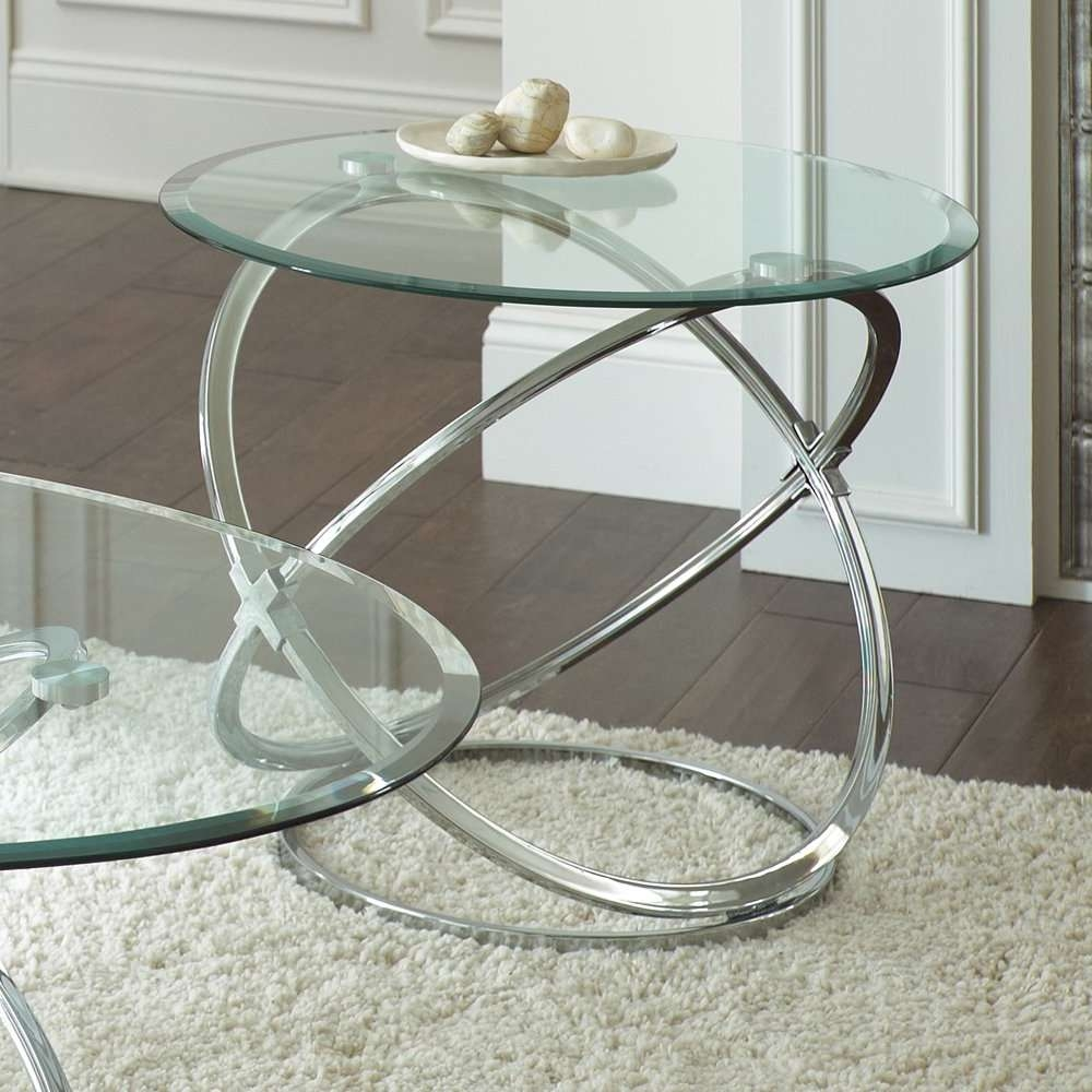 Atemberaubend Steve Silver Orion 3 Piece Glass Top Coffee Table Throughout Popular Glass And Silver Coffee Tables (Gallery 14 of 20)