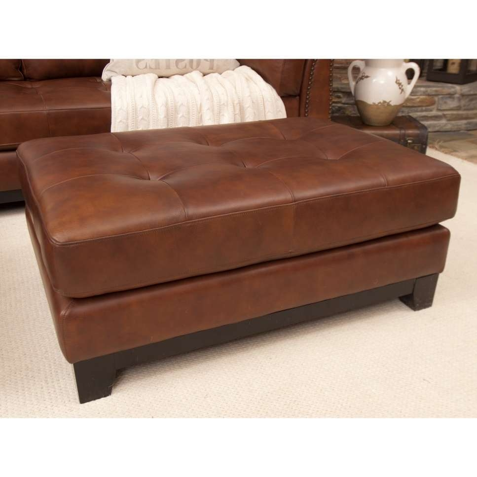 Attractive Brown Leather Ottoman Coffee Table — Home Design Ideas With Best And Newest Brown Leather Ottoman Coffee Tables (View 2 of 20)