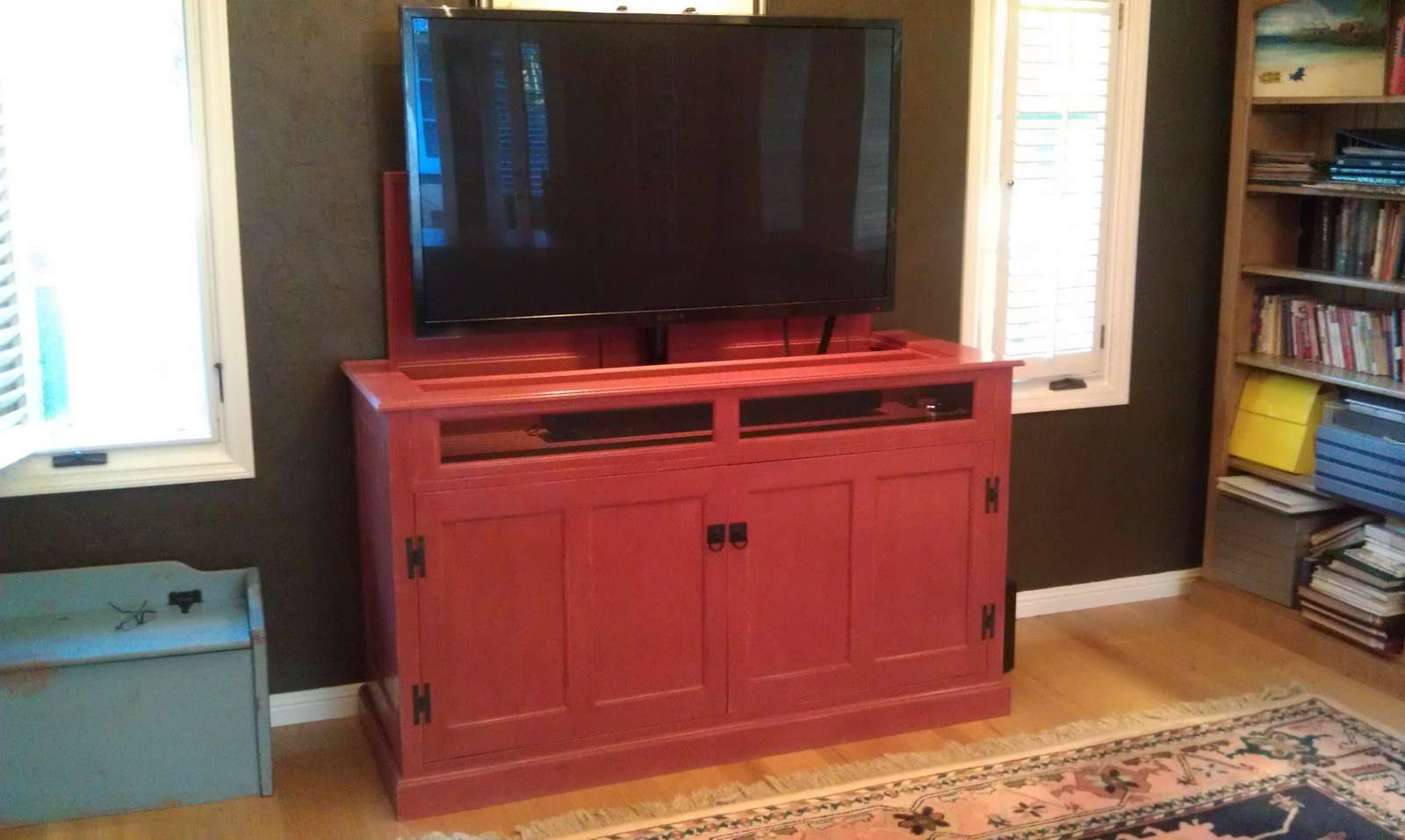 Audio & Tv – Design Service: House Visit Or In Our Studio, Custom For Red Tv Cabinets (View 2 of 20)