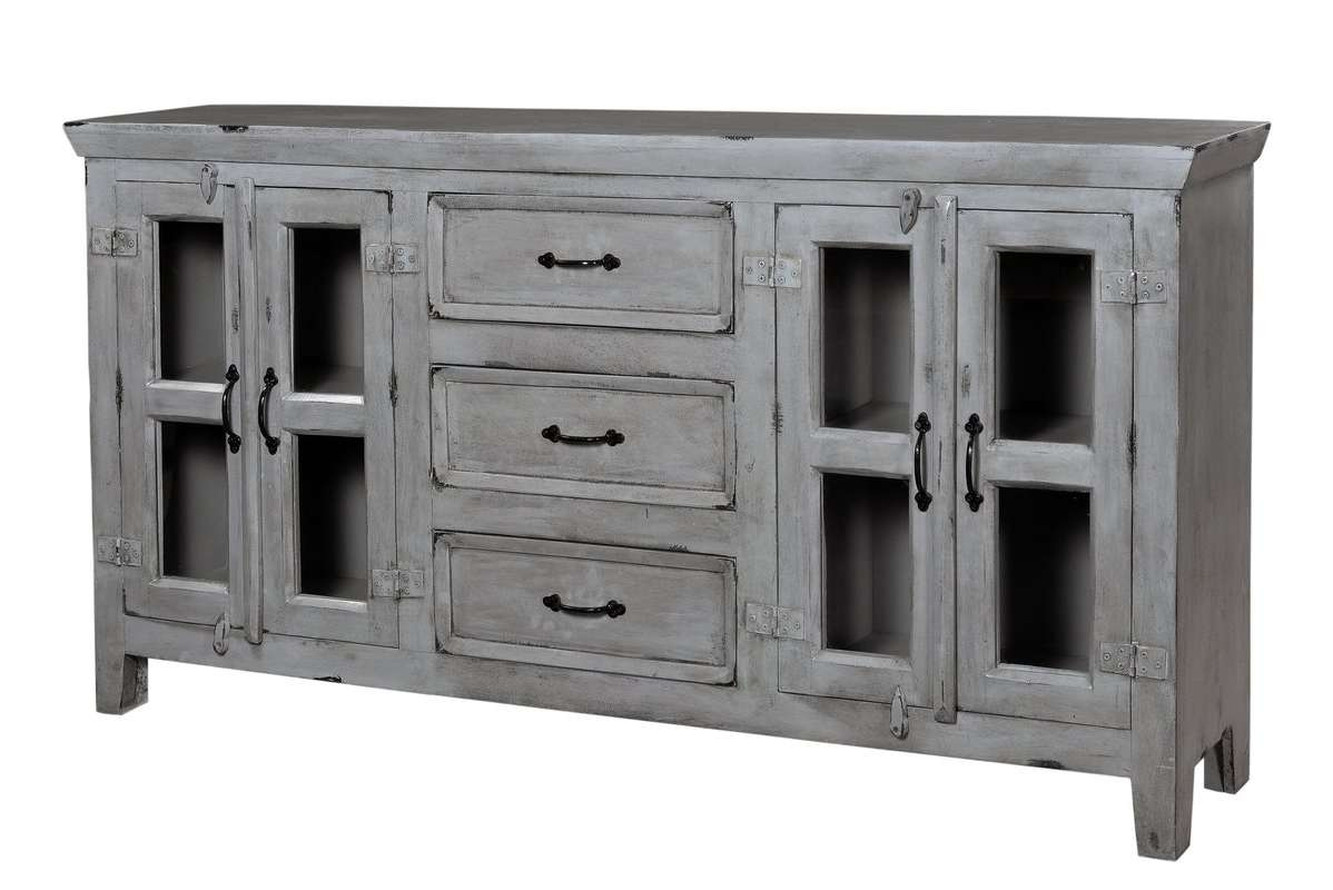 August Grove Fairy Sideboard & Reviews | Wayfair With Grey Sideboards (View 2 of 20)