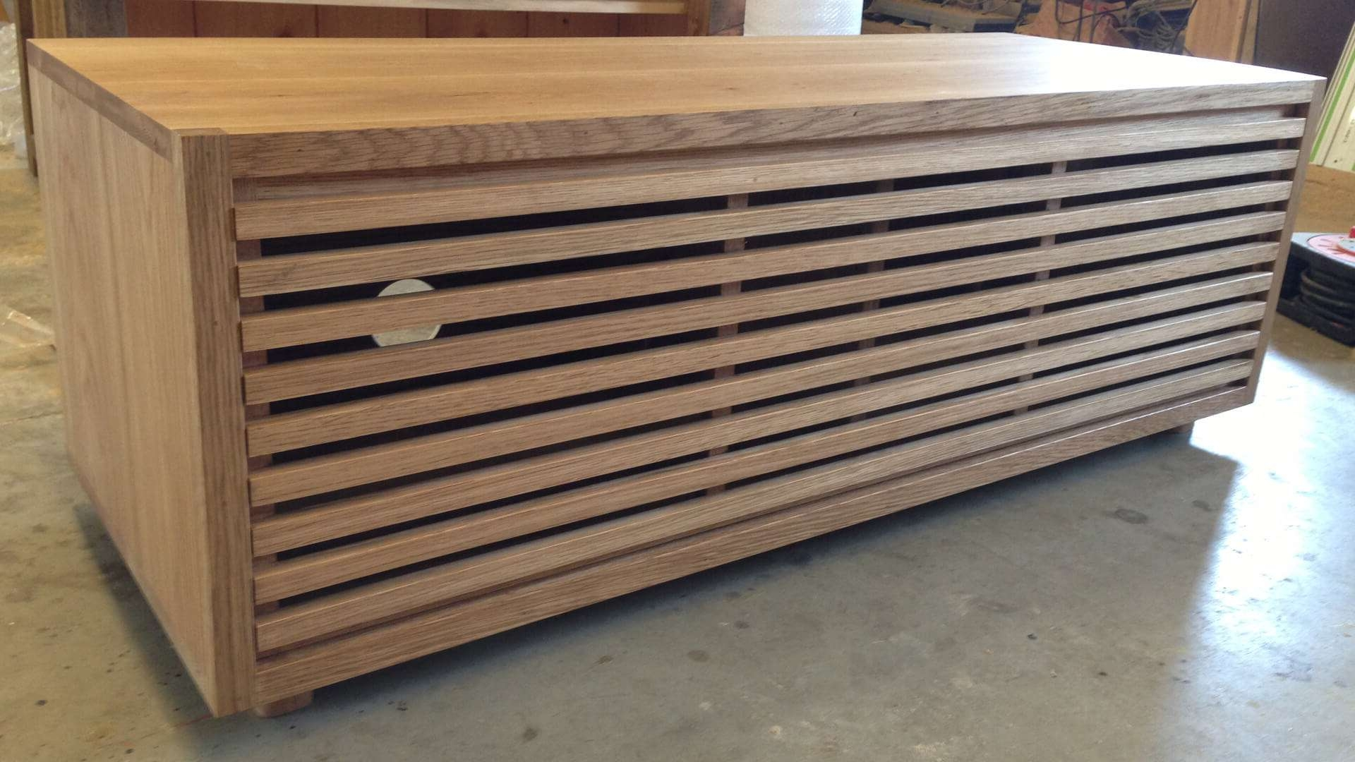 Av Furniture – Contemporary Oak Slatted Tv Unit – Av Soul Inside Contemporary Oak Tv Cabinets (View 1 of 20)