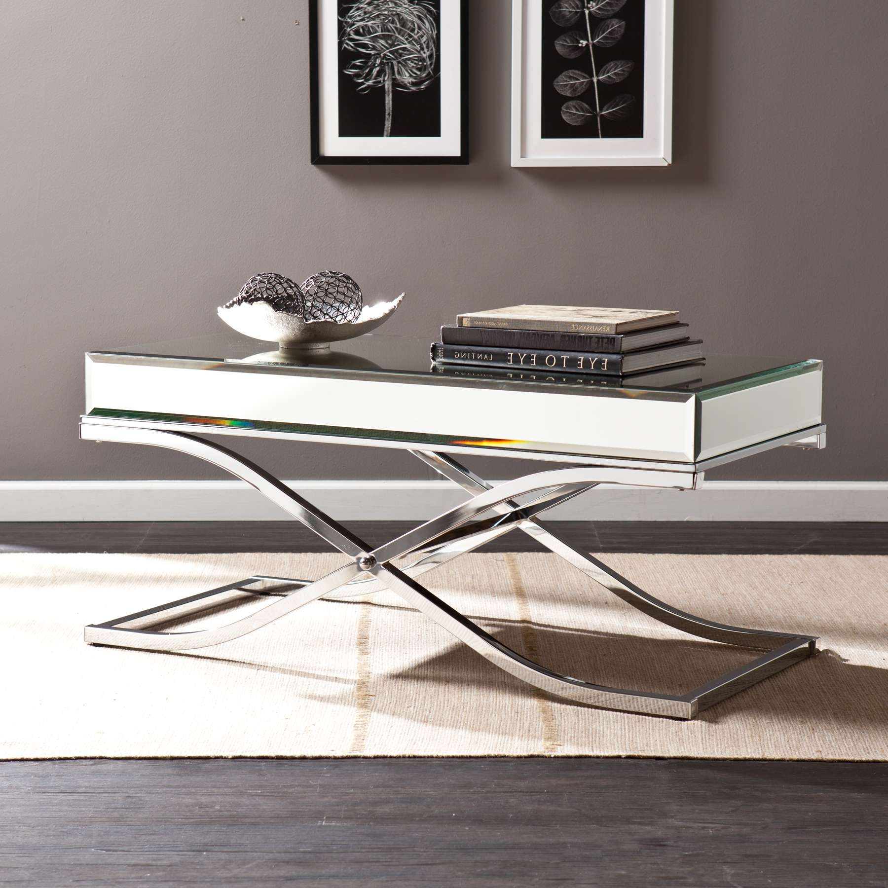 Ava Mirrored Cocktail Table – Chrome In Widely Used Ava Coffee Tables (Gallery 1 of 20)