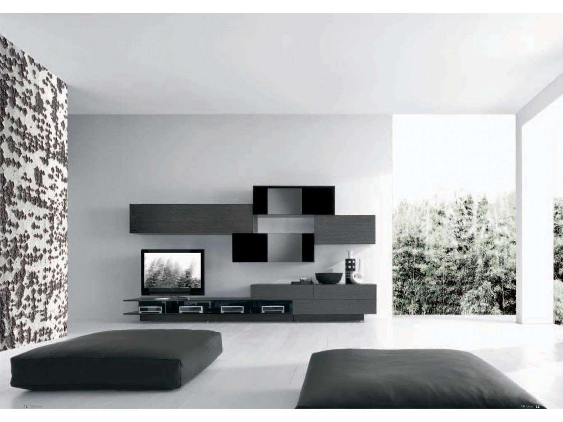 Awesome White Black Glass Wood Modern Design Elegant Wall Unit Within Tv Cabinets Contemporary Design (View 8 of 20)