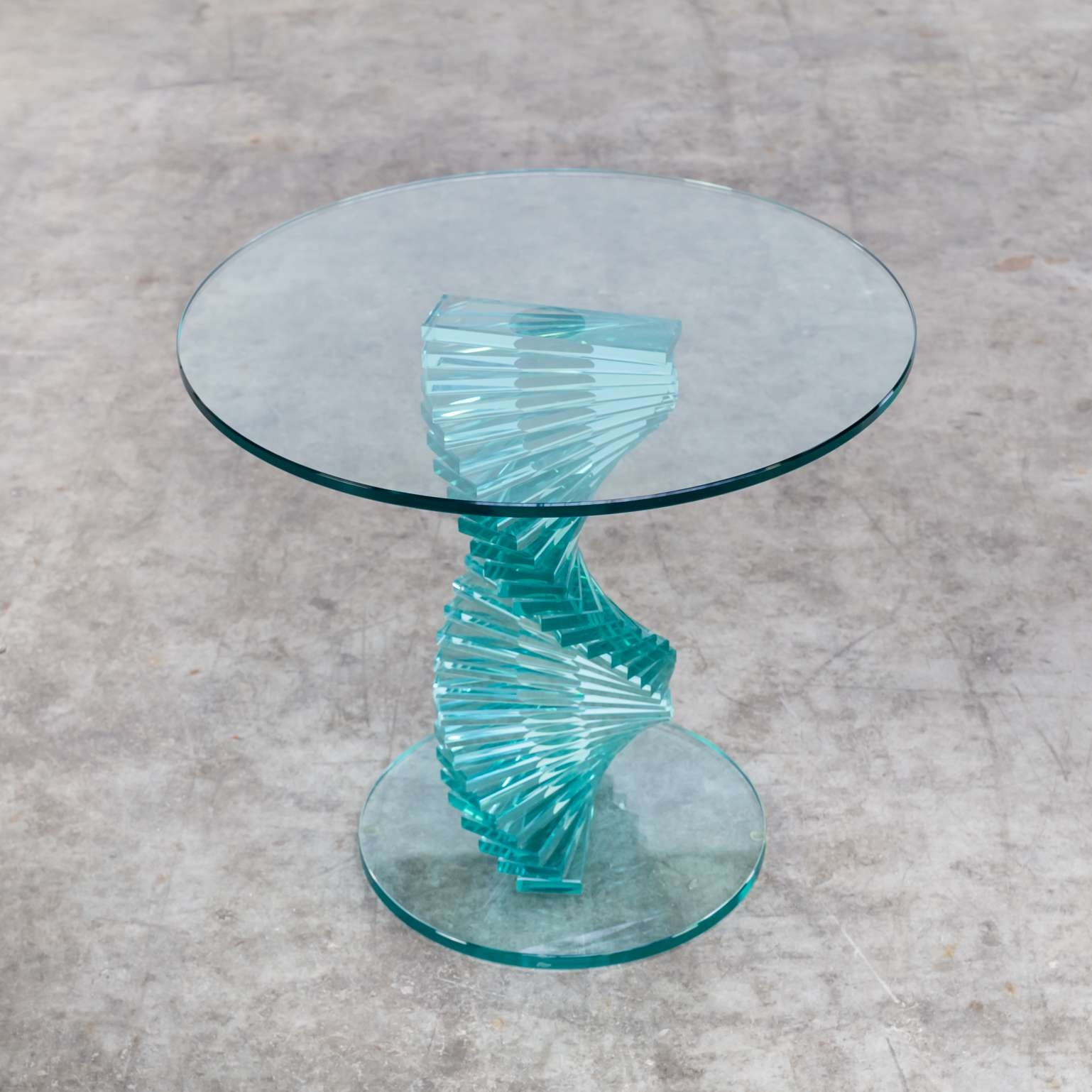 Barbmama In Favorite Spiral Glass Coffee Table (View 5 of 20)