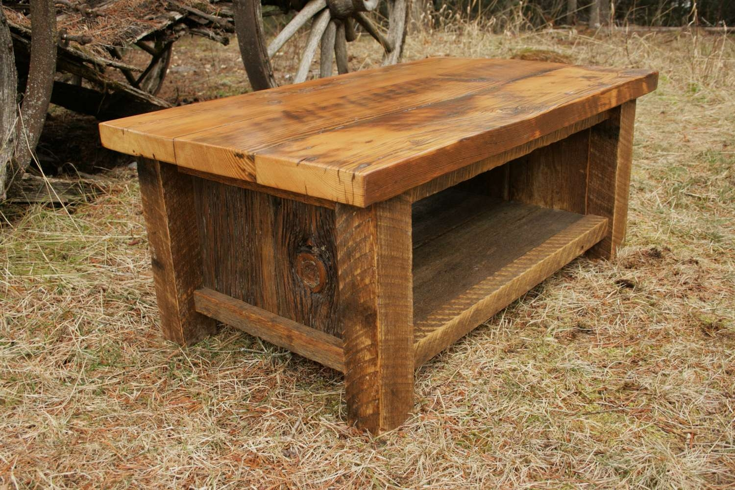 Barnwood Furniture With Widely Used Rustic Barnwood Coffee Tables (View 2 of 20)