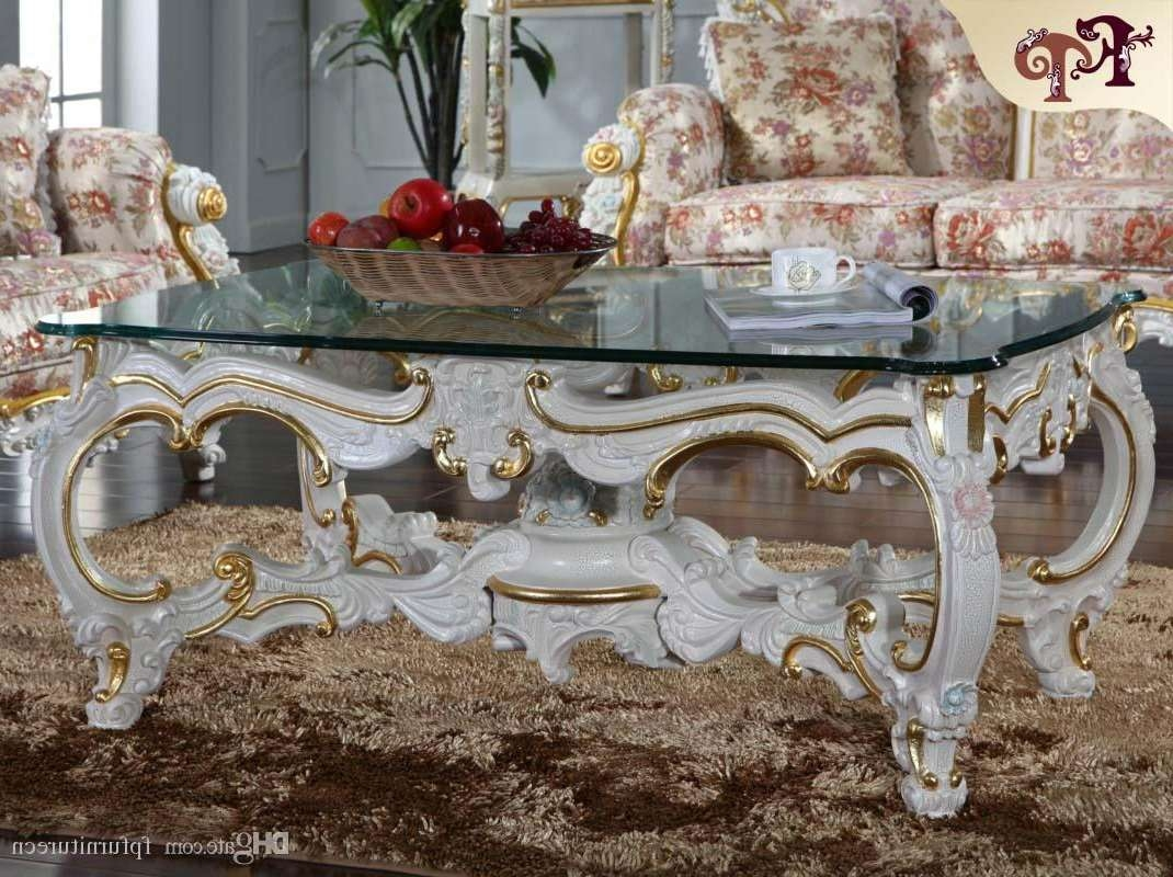 Baroque Style Living Room Furniture  Royalty Classic Coffee Table Intended For Most Recently Released Baroque Coffee Tables (View 3 of 20)