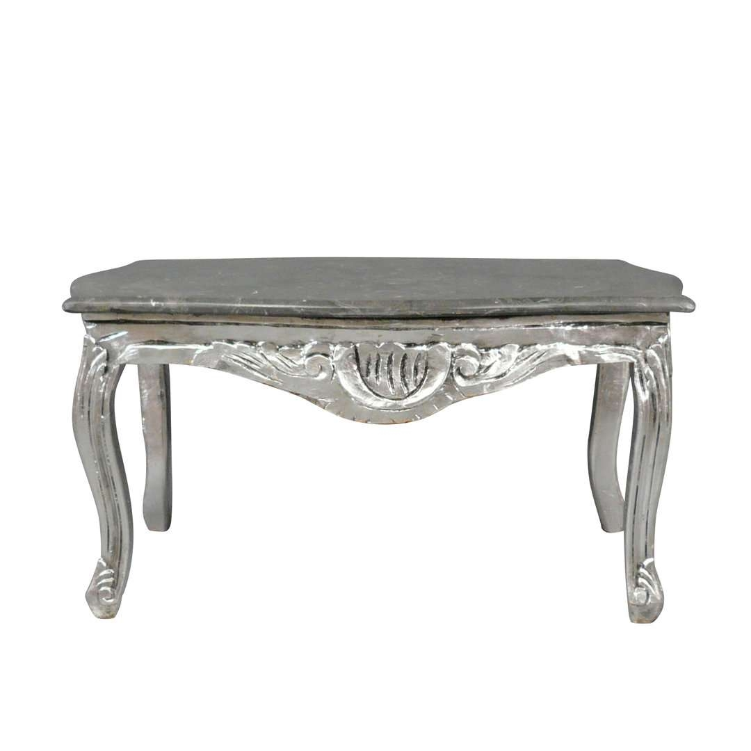 Baroque Wooden Coffee Table In Silver Color – Baroque Furniture Intended For Well Liked Baroque Coffee Tables (View 4 of 20)