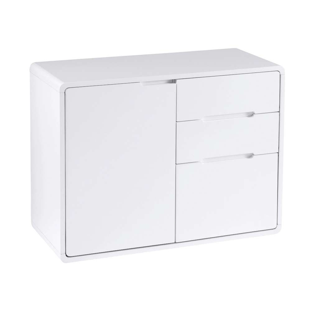 Basel Compact Sideboard White – Dwell Throughout Slim White Sideboards (View 3 of 20)