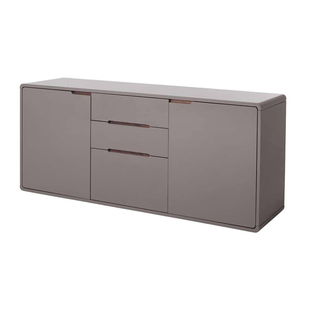 Basel Two Door Sideboard Stone – Dwell Throughout Low Wide Sideboards (View 1 of 20)