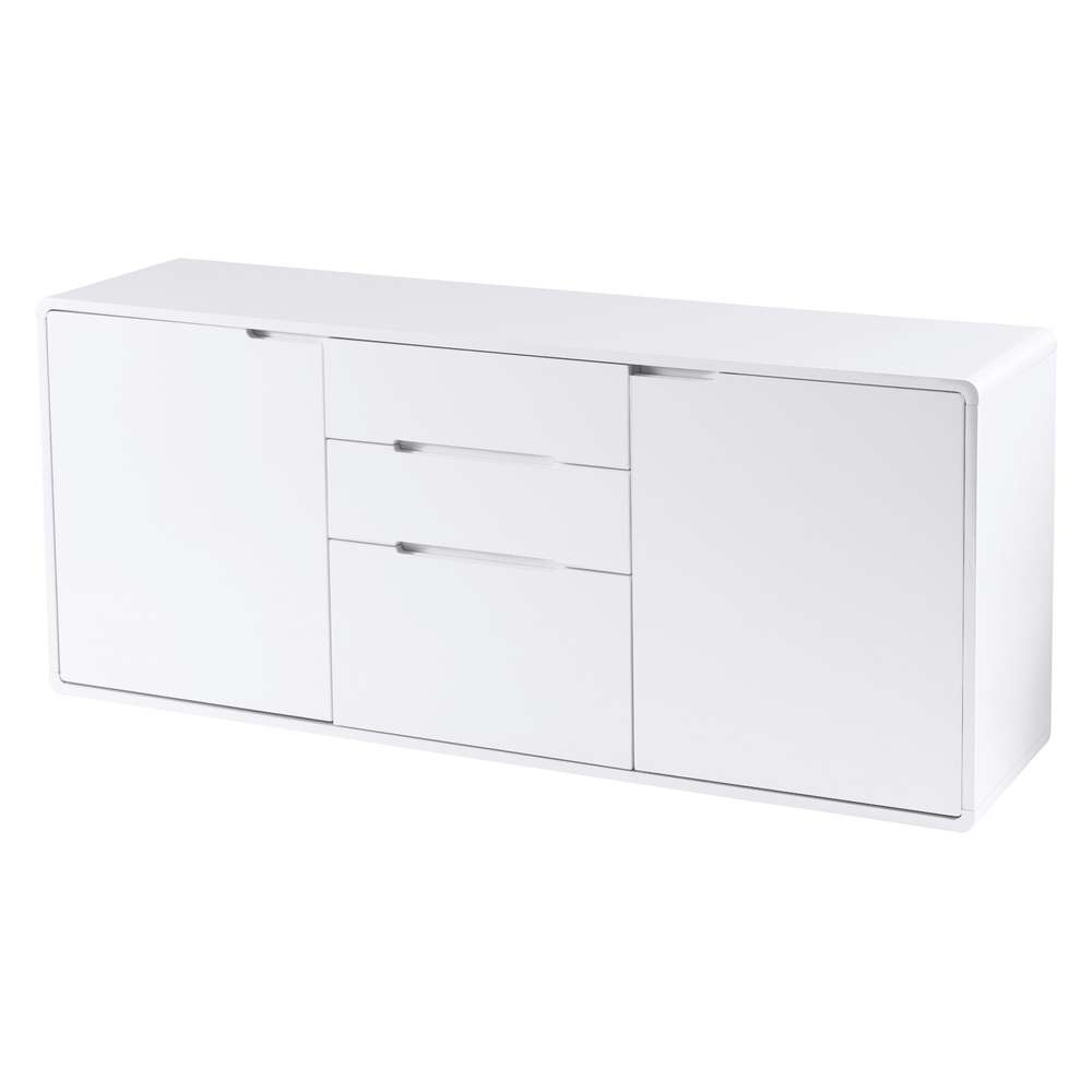 Basel Two Door Sideboard White – Dwell Pertaining To Thin White Sideboards (View 2 of 20)