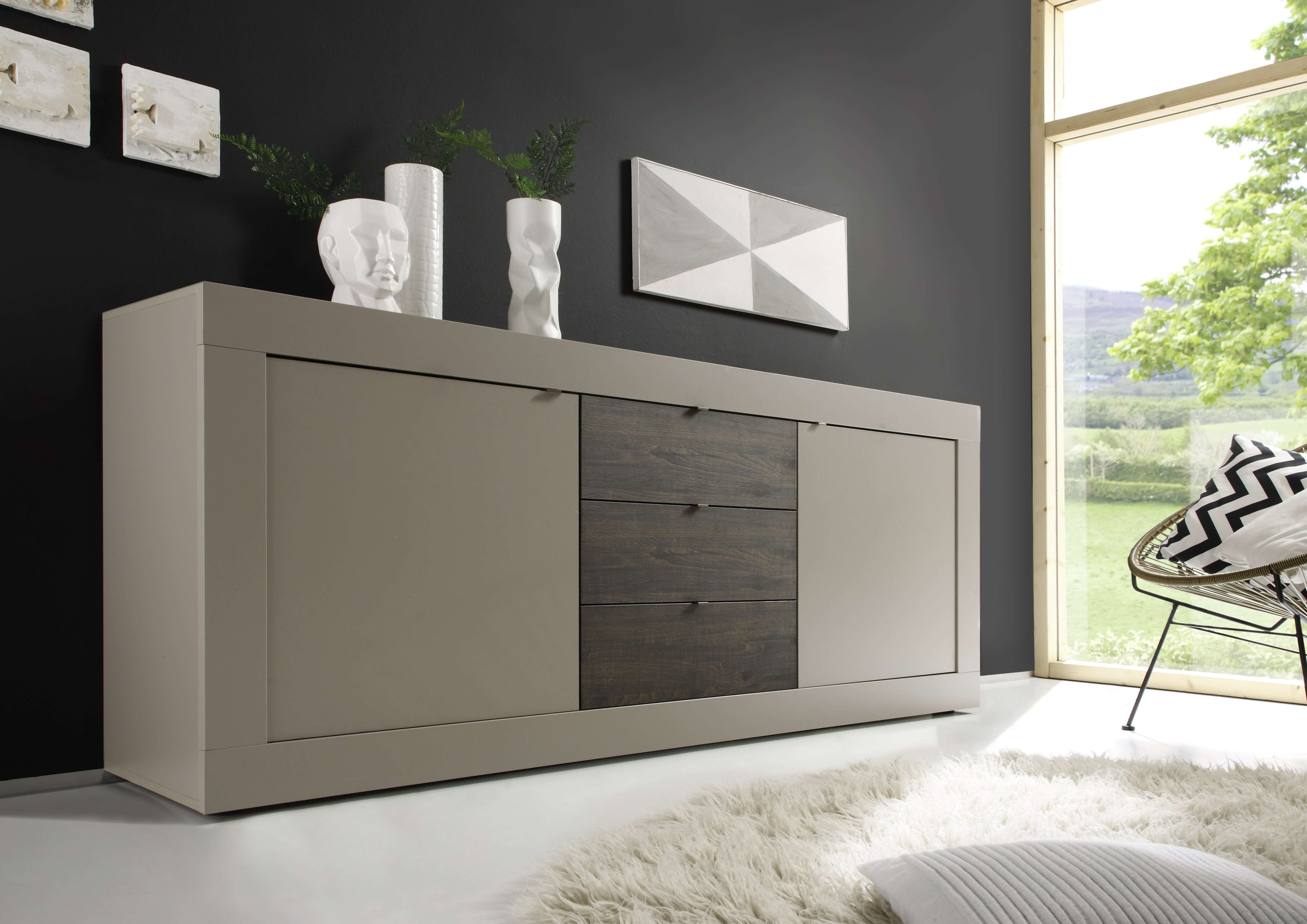 Basic Sideboard, Beige + Wenge Buy Online At Best Price – Sohomod With Wenge Sideboards (View 15 of 20)