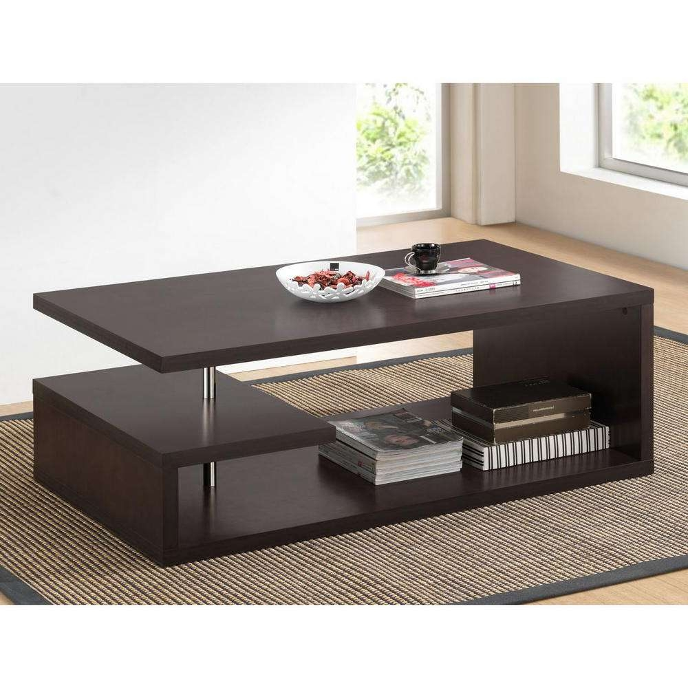 Baxton Studio Lindy Dark Brown Coffee Table 28862 4511 Hd – The Throughout Famous Dark Brown Coffee Tables (View 2 of 20)