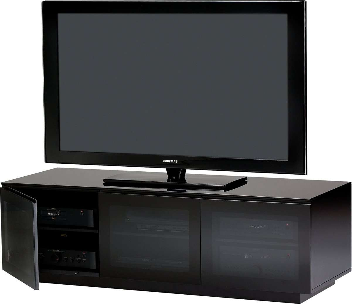 Bdi Mirage 8227 Tv Stands With Black Glass Tv Cabinets (View 4 of 20)
