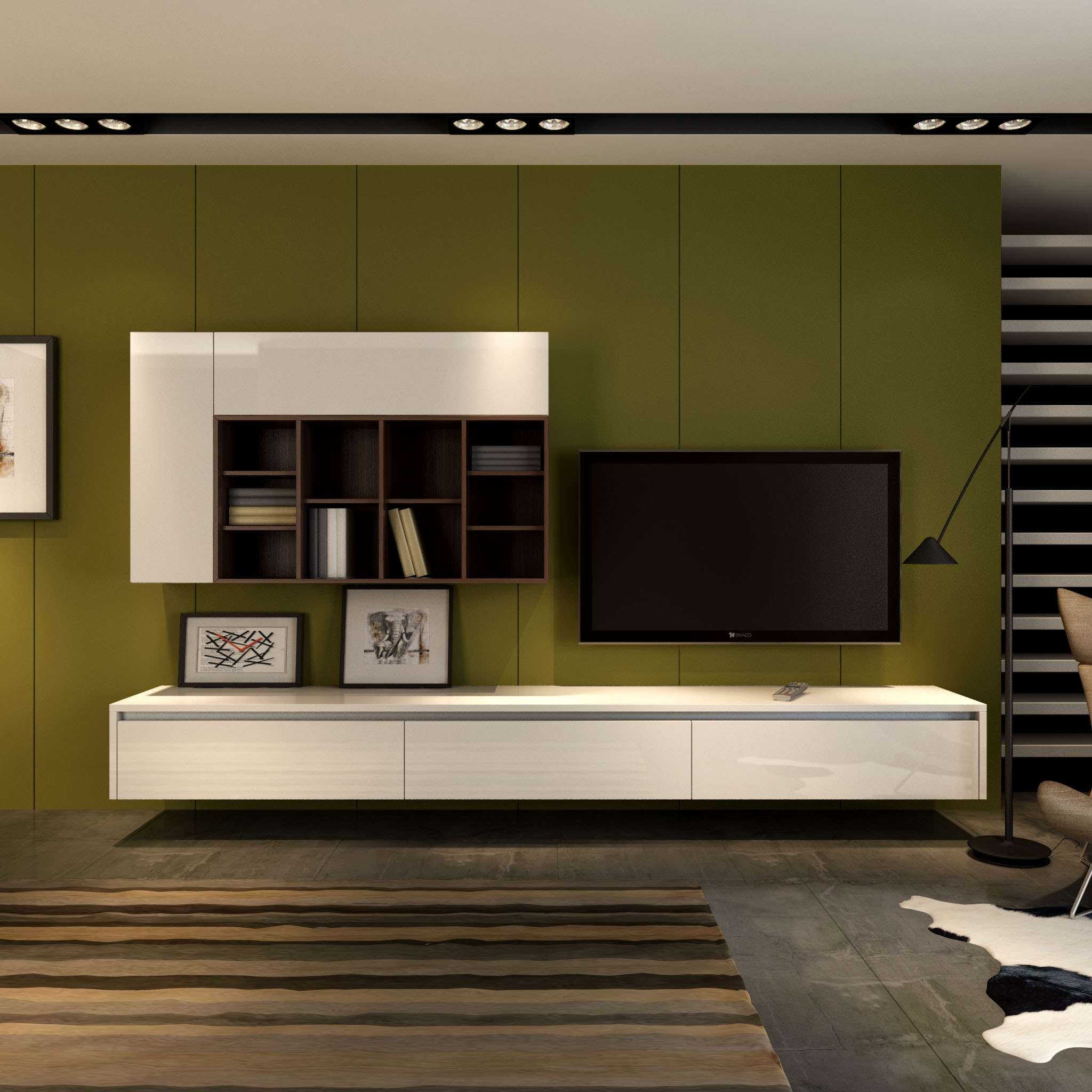 Top 20 of modern tv cabinets for Latest lcd wall unit designs