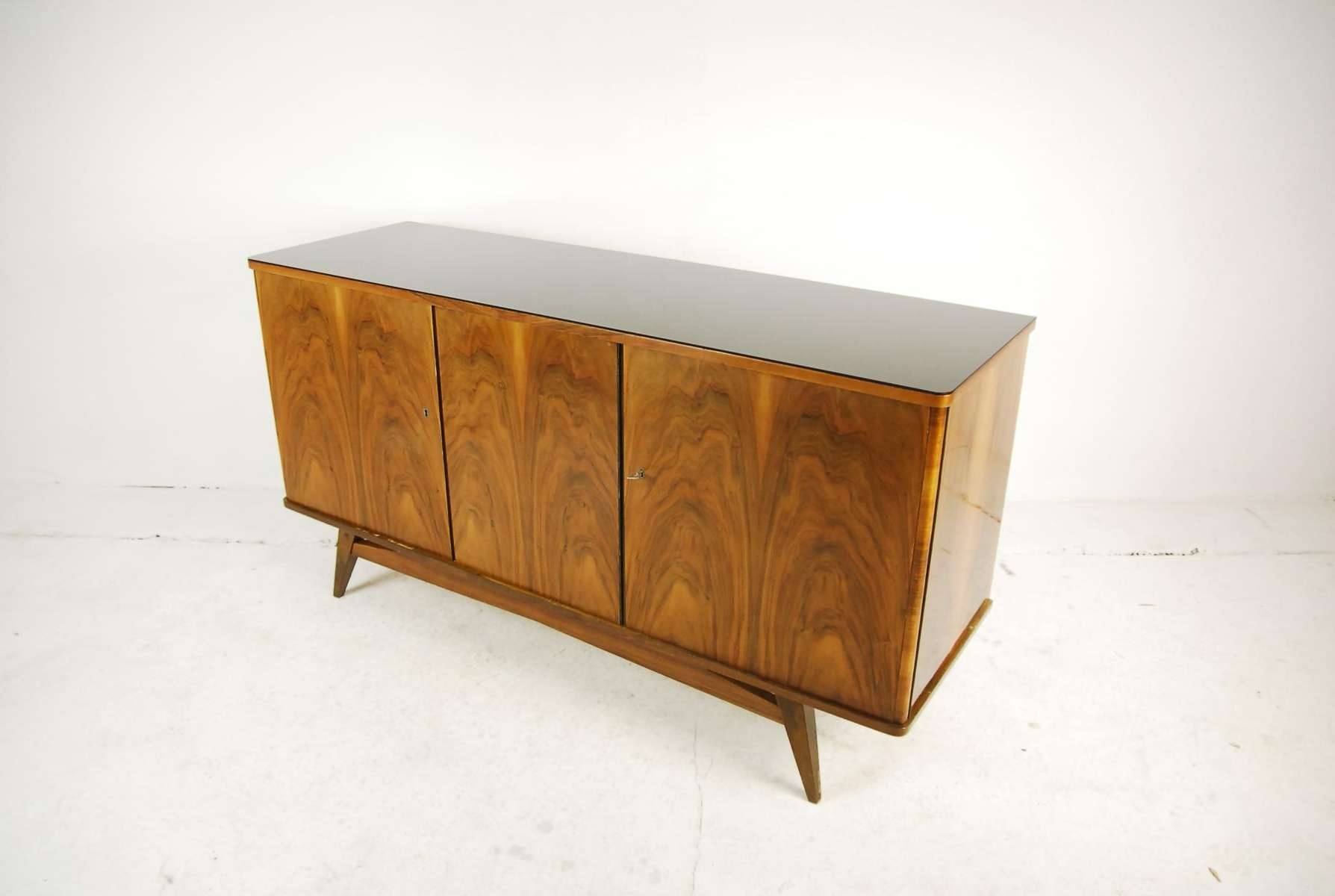 Beech Sideboard From Lodz Furniture Factory, 1960S For Sale At Pamono Throughout Beech Sideboards (View 2 of 20)