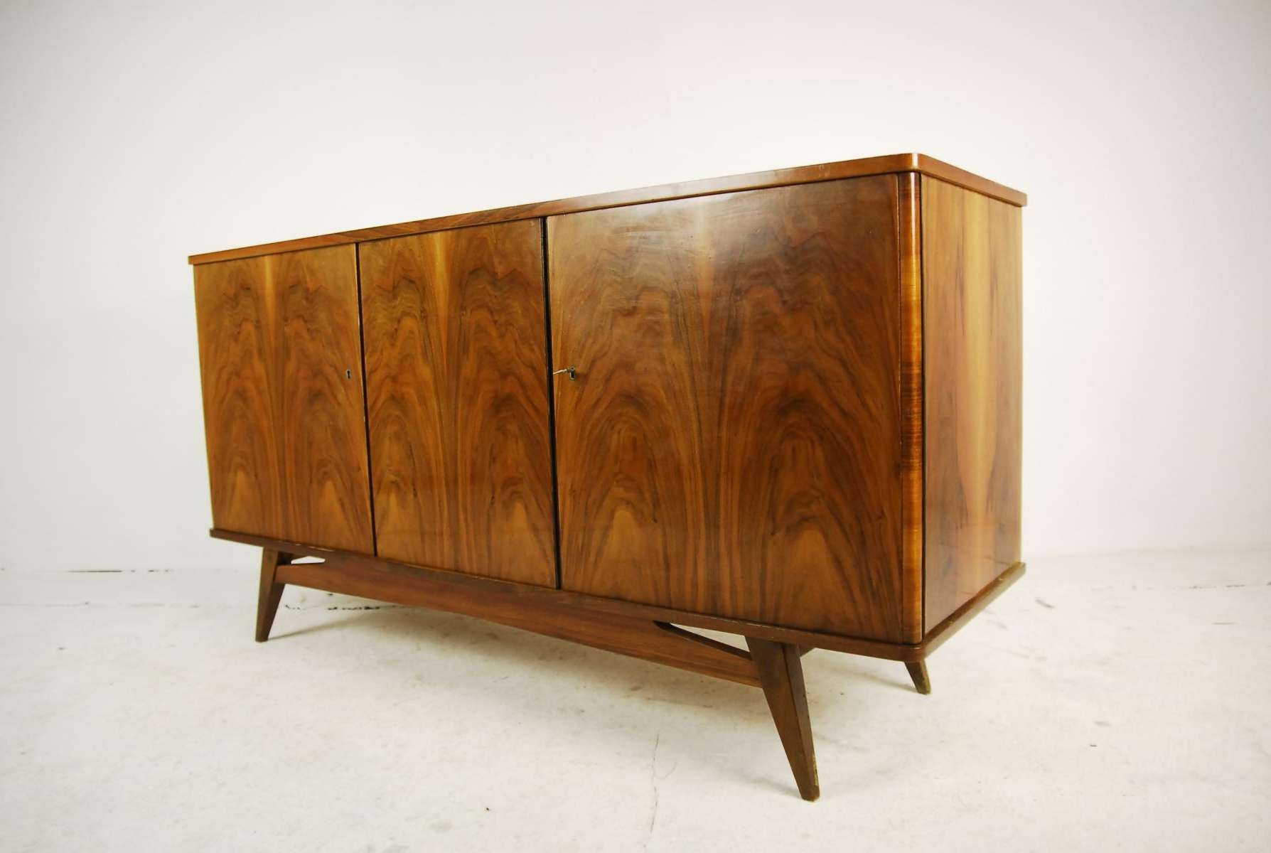 Beech Sideboard From Lodz Furniture Factory, 1960s For Sale At Pamono Within Beech Sideboards (View 12 of 20)