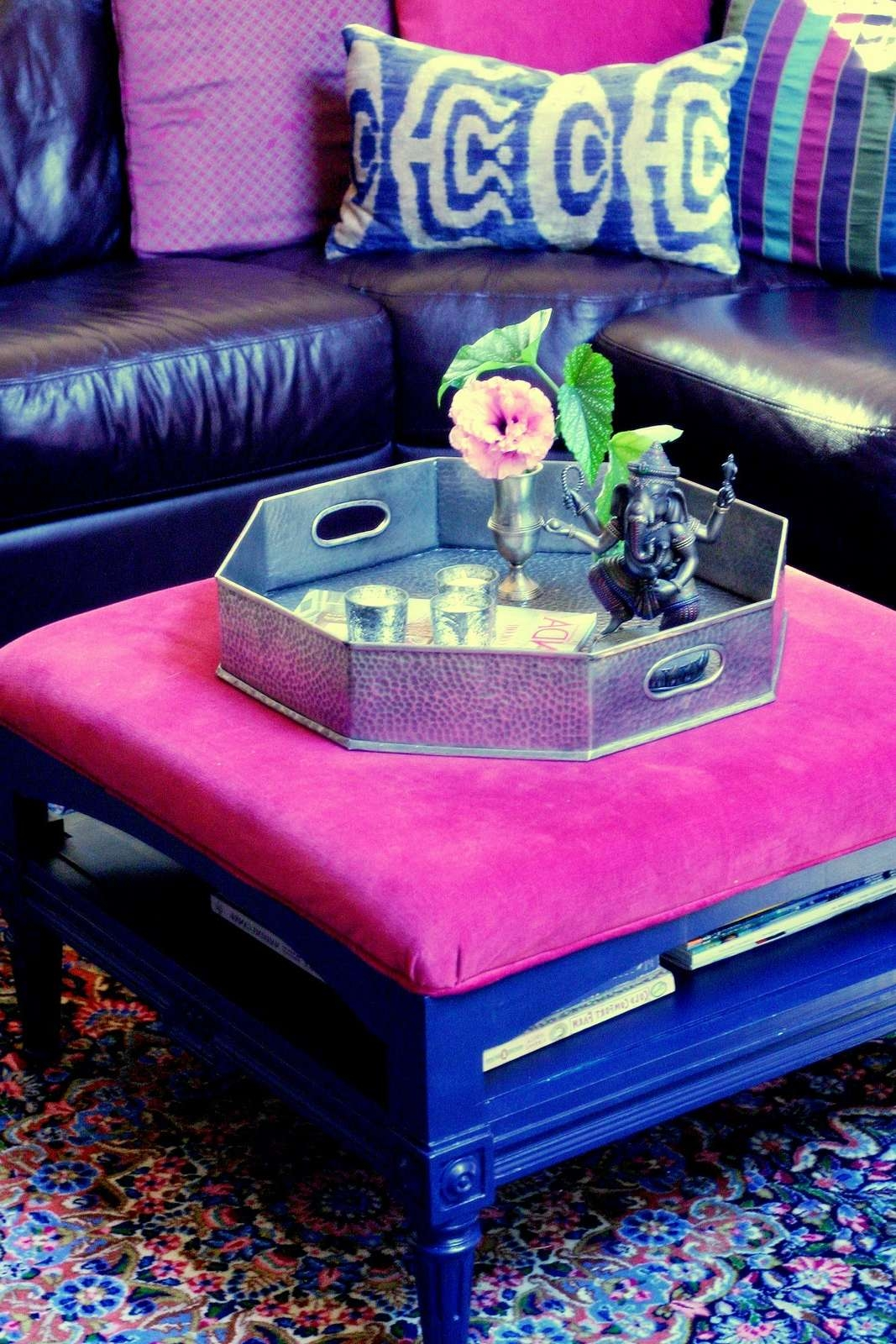 Before And After Ottoman Makeover For Mom – Design Manifestdesign Pertaining To 2017 Purple Ottoman Coffee Tables (View 17 of 20)