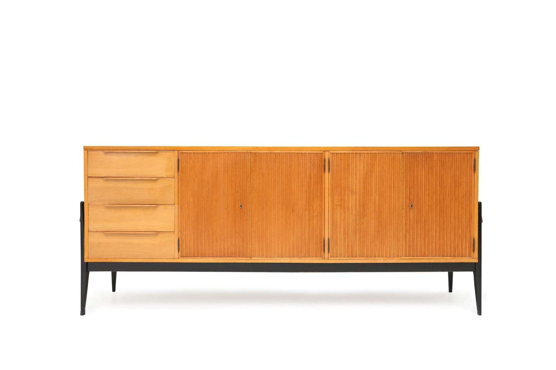 Belgian Wooden Sideboard For Sale At Pamono Throughout Wooden Sideboards (View 20 of 20)