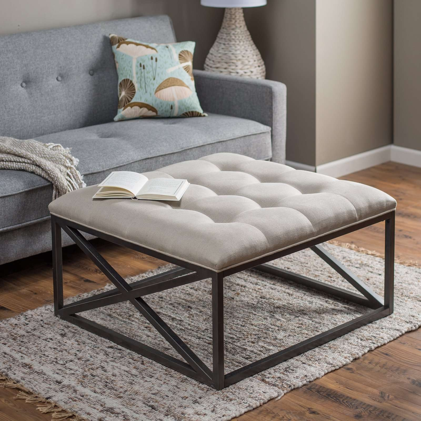 Belham Living Grayson Tufted Coffee Table Ottoman (View 5 of 20)