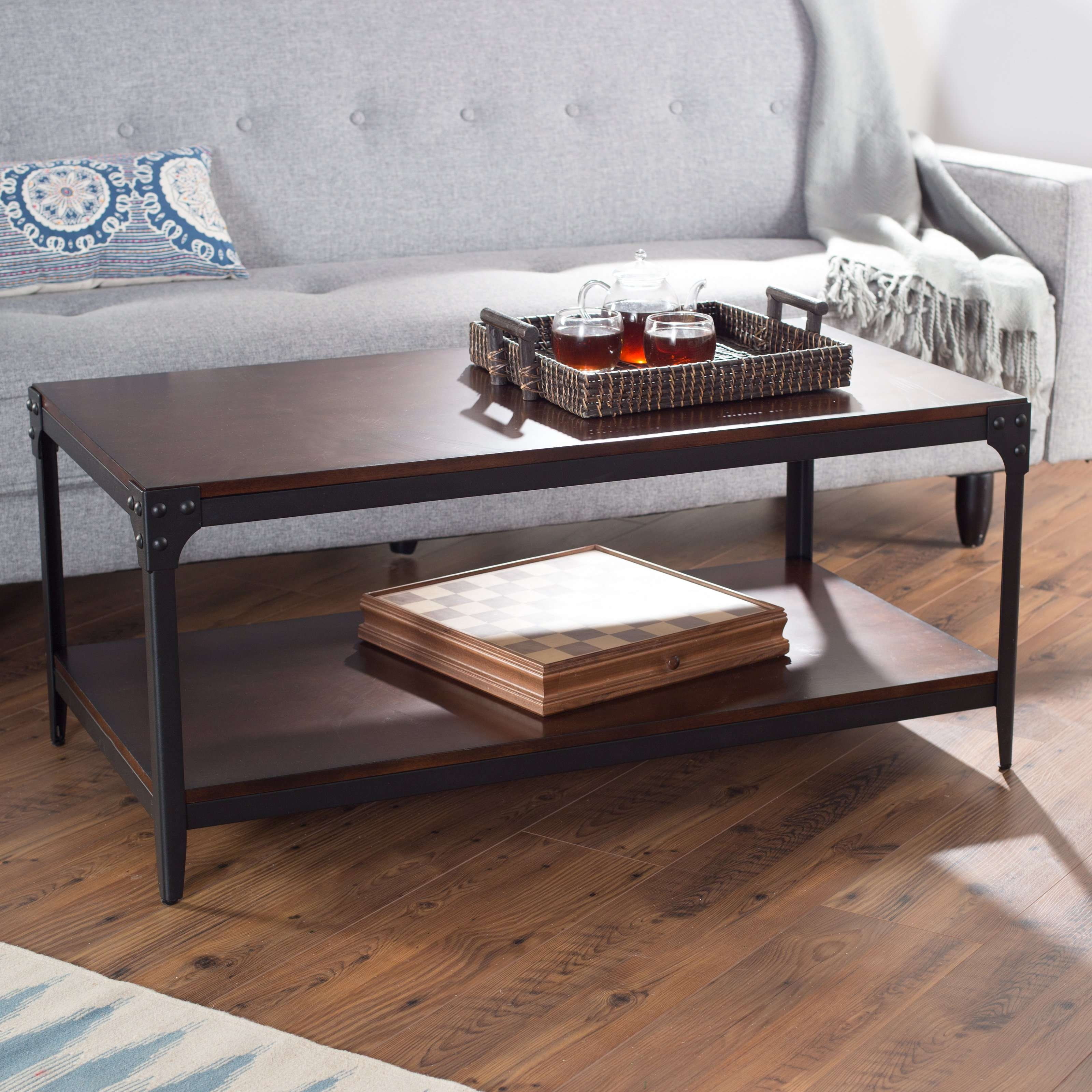 Belham Living Trenton Industrial Coffee Table – Espresso – Walmart Throughout 2018 Espresso Coffee Tables (View 1 of 20)