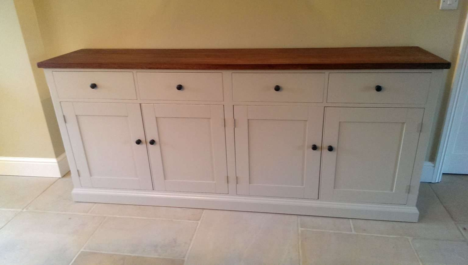 Bespoke Large Painted Sideboard With Oak Top – Solid Wood Inside Bespoke Sideboards (View 4 of 20)