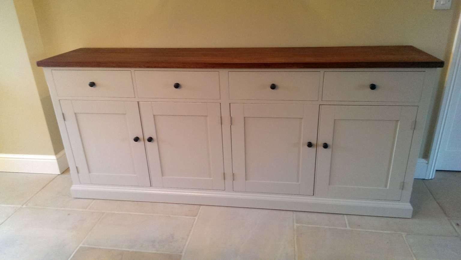 Bespoke Large Painted Sideboard With Oak Top – Solid Wood Inside Bespoke Sideboards (View 4 of 20)