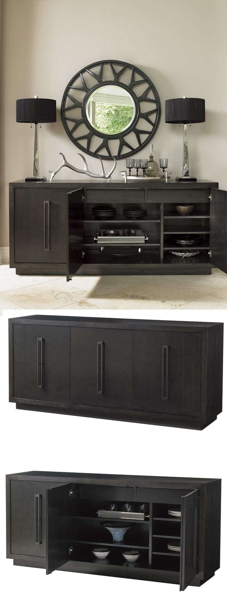 Best 25+ Buffet Server Ideas On Pinterest | Buffet Server Table In Black Dining Room Sideboards (View 12 of 20)