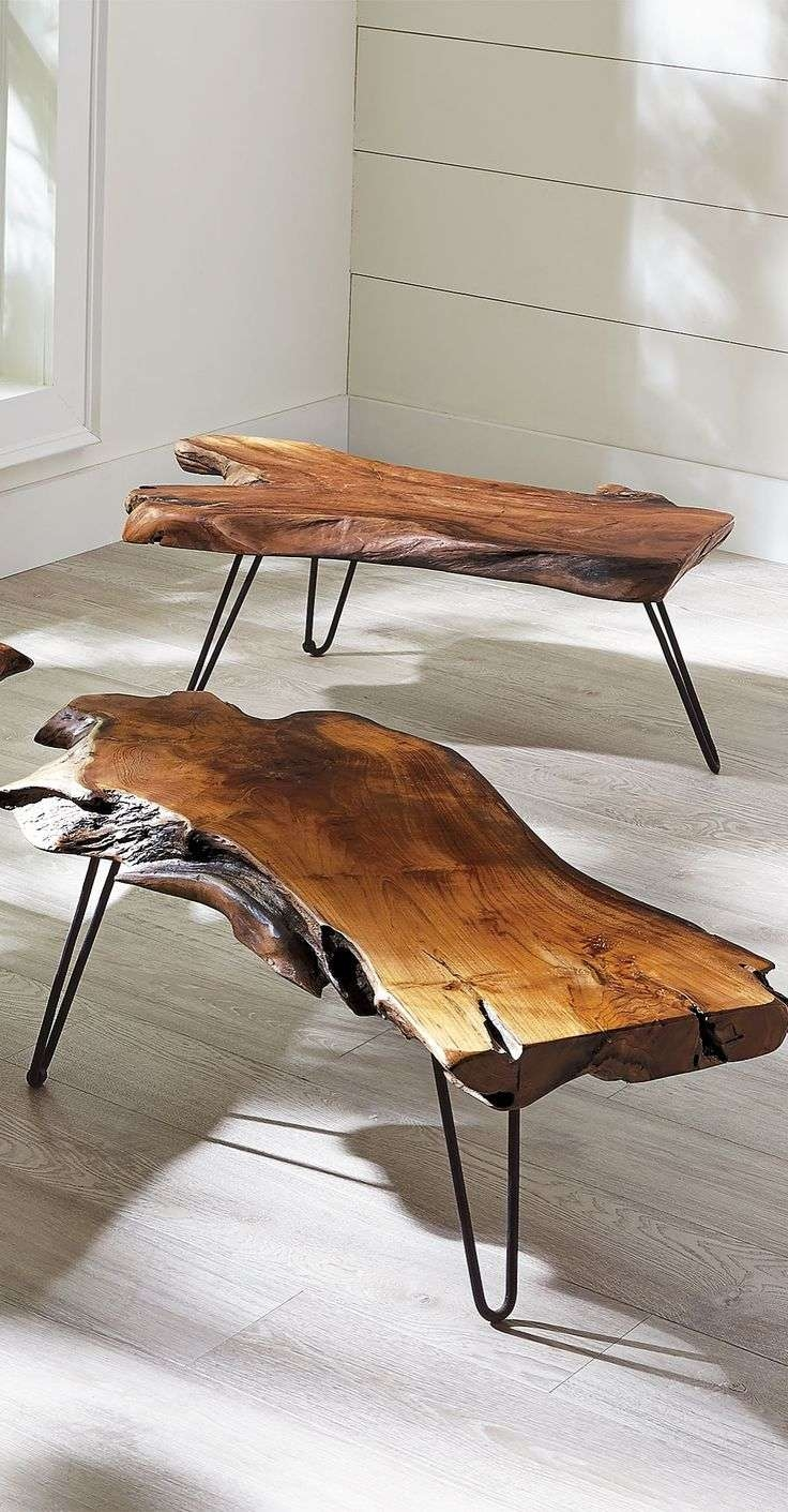 Best 25+ Natural Wood Coffee Table Ideas On Pinterest Regarding 2017 Natural Wood Coffee Tables (View 2 of 20)